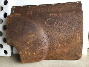 1949 1952 Chevrolet Pontiac Sedan Passenger Side Door Skin