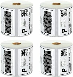 Thermal Shipping Labels 4x6 4rolls Direct 250 paper 1000 Sticker 5core Dtl4pk