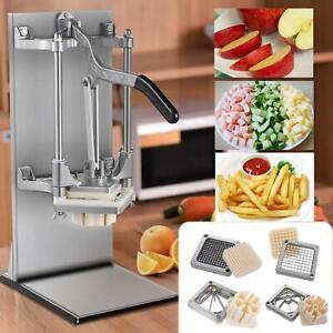 Hand Stainless Steel French Fry Cutter Potato Vegetable Slicer Chopper Cutter Us