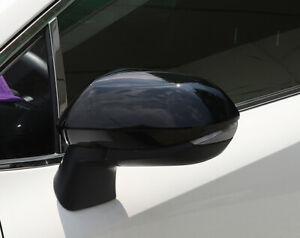 For Toyota Corolla 2020 2021 Glossy Black Side Rearview Mirror Cover Trim 2pcs