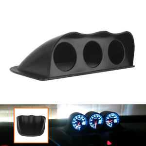 2 52mm Car Triple Dash Gauge Meter Pod 3 Hole Dashboard Mount Holder Pod Black