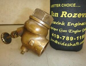3 4 No Name Brass Carburetor Fuel Mixer For Old Gas Hit Miss Engine Very Nice