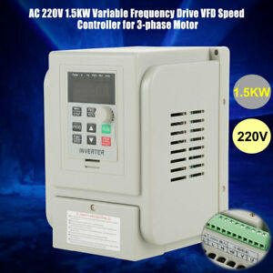 2hp 1 5kw Variable Frequency Drive Inverter Converter Vfd Speed Controller