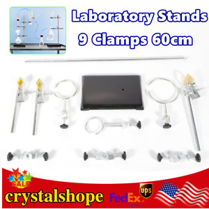Chemistry Stands Support Laboratory Ring Holder Flask 9clamp Experiment Clip60cm