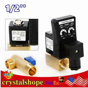 1 2 Automatic Electronic Timed Air Water Moisture Drain Valve For Compressor