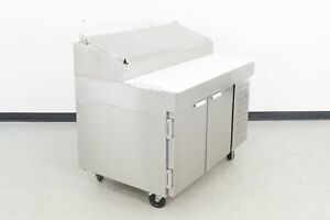 Used Traulsen Vps48s 48 2 Door Refrigerated Pizza Prep Table 591981