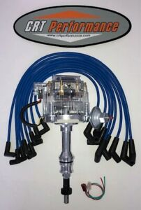 Ford 351w windsor Hei Distributor Clear Cap 8mm Blue Wires Usa