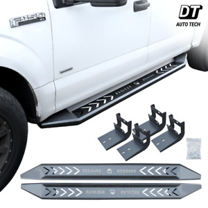 For 2015 2020 Ford F150 Super Crew Cab Pair 6 Running Board Side Step Nerf Bar