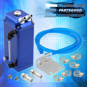 Blue Square Aluminum Billet High Quality Oil Catch Can Reservoir Tank For Nissan