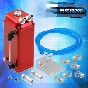 Red Square Oil Catch Can Reservoir Tank For Nissan Altima Maxima 240sx S13 S14