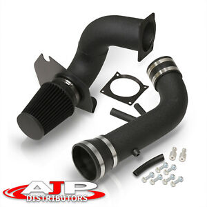 Black Piping Cold Air Intake System W Filter For 1996 2004 Ford Mustang V8 4 6l