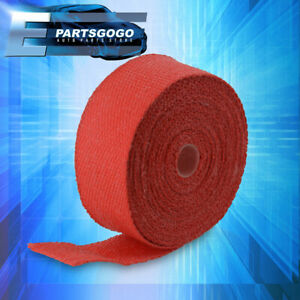 30ft X 2 X 1 5mm Red Heat Wrap Thermo Shield Catback Down Pipe Header Exhaust