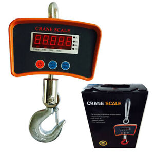 Crane Scale 500 Kg 1100 Lb Digital Industrial Hanging Weight Scale Lcd Display