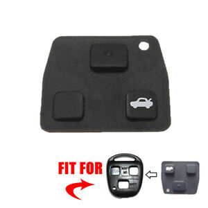 1x Black Replacement 2 Or 3 Button Car Remote Key Rubber Pad For Toyota Avensis