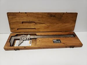 Tumico Tubular Micrometer Calipers78 12e M W Original Wood Case