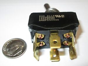 C h eaton Toggle Switch Dpdt On on 1 4 Qc Terms New Old Stock