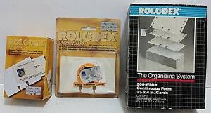 Rolodex Card Lot Business Sleeves Slotted Combination Refills Continuous Form