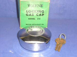 Vintage Nos 1953 57 Chevrolet Custom Chrome Locking Gas Cap Ct33