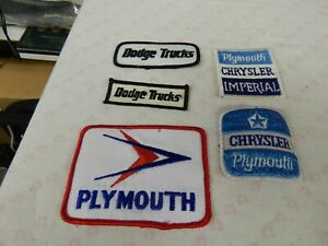 Mopar 5 Nos Patches Dodge Truck Plymouth Chry Imperial