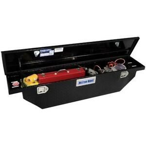 61 5 Single Lid Narrow Low Profile Crossover Classic Wedge Truck Tool Box Black