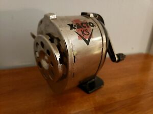 Pencil Sharpener Vintage Metal Mountable On Wall Desk Or Table X Acto