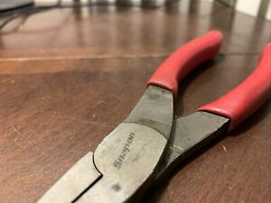 Snap On Tool Usa 9 Long Talon Soft Grip Needle Nose Pliers Red Handle Long Reach