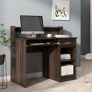 42 Office Computer Table Study Writing Desk Workstation With Hutch 6 Colors
