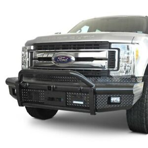 For Ford F 250 Super Duty 17 20 Bumper Bullnose Full Width Black Front Winch Hd