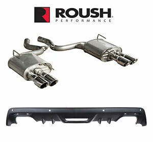 2015 2017 Mustang 2 3l Ecoboost Roush Quad Tip Exhaust System Rear Valence