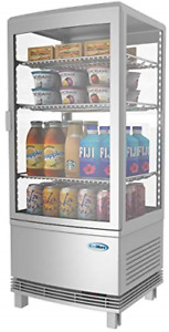 Koolmore Countertop Refrigerator Display Case Commercial Beverage Cooler With