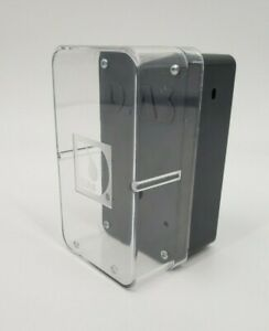 Gray Plastic Electrical Project Box With Enclosure Case And Clear Cover