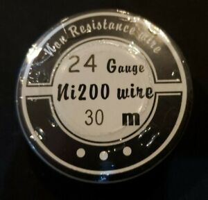 Ni200 50 Ft 24 Gauge Awg Pure Nickel 200 Non Resistance Wire 24g Cloud King