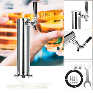 Stainless Steel Single Tap Beer Faucet Draft Tower Bar Homebrew For Kegerator
