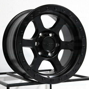 17x9 Falcon T1 6x139 7 12 Full Black Wheels Rims Set 4 106 3
