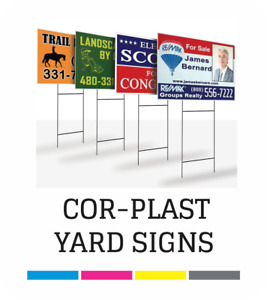 Full Color Corrugated Plastic Real Estate Yard Sign Free Shipping