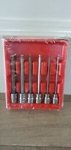 New Snap On 6 Piece 3 8 Drive Sae Long Ball Hex Bit Socket Set 206efabl