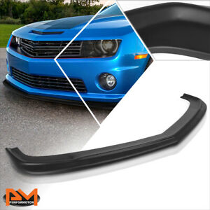 For 10 13 Chevy Camaro Zl1 Style Matte Black Front Bumper Lip Lower Spoiler Kit