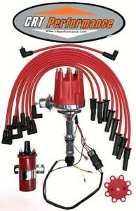 Sb Buick 300 340 350 Small Cap Hei Distributor 45k Red Coil 8mm Wires Usa