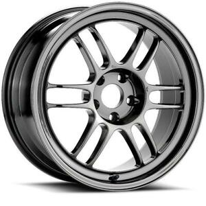 17x9 Enkei Rpf1 5x114 3 45 Chrome Wheels Rims Set 4