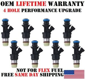 4 Hole Performance Upgrade 8x Oem Delphi Fuel Injectors For Gm Cars 4 8 5 3 6 0l