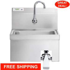 Stainless Steel Hands Free Hand Sink Knee Operated Valve With Faucet 17 X 15