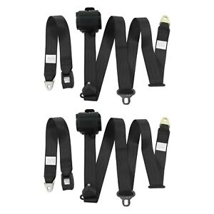 For Chevy Camaro 70 81 3 point Standard Buckle Retractable Bucket Seat Belts