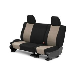 For Toyota Previa 94 97 Caltrend Tweed 2nd Row Black Beige Custom Seat Covers