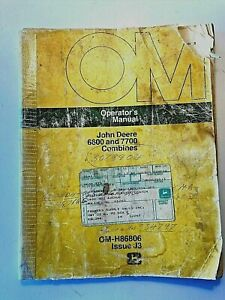 John Deere Operator s Manual Om H86806 Issue J3 6600 And 7700 Combines