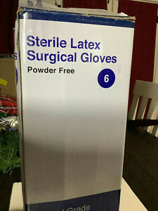 Surgical Gloves Powder Free Latex Box Of 50 new Open Box Item