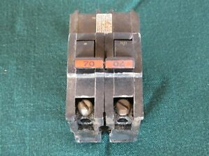 Federal Pacific 2 Pole Breakers 70 Amp Type Na Thick Stab loc 120 220 Vac