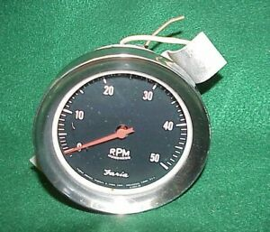 Vintage Faria 5000 Rpm Tach Tachometer Chevy Gasser Hot Rat Rod Scta Day 2 Ford