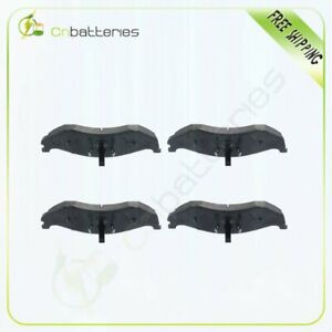 4x Front Low Dust Ceramic Brake Pads For 1997 1998 1999 00 06 Jeep Wrangler