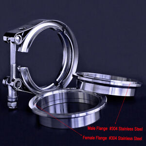 4inch V band Clamp 4 Stainless Steel Flange Male female For Exhaust Downpipe