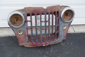 Original 1947 1965 Jeep Willys Pickup Truck Grill Headlight Housing